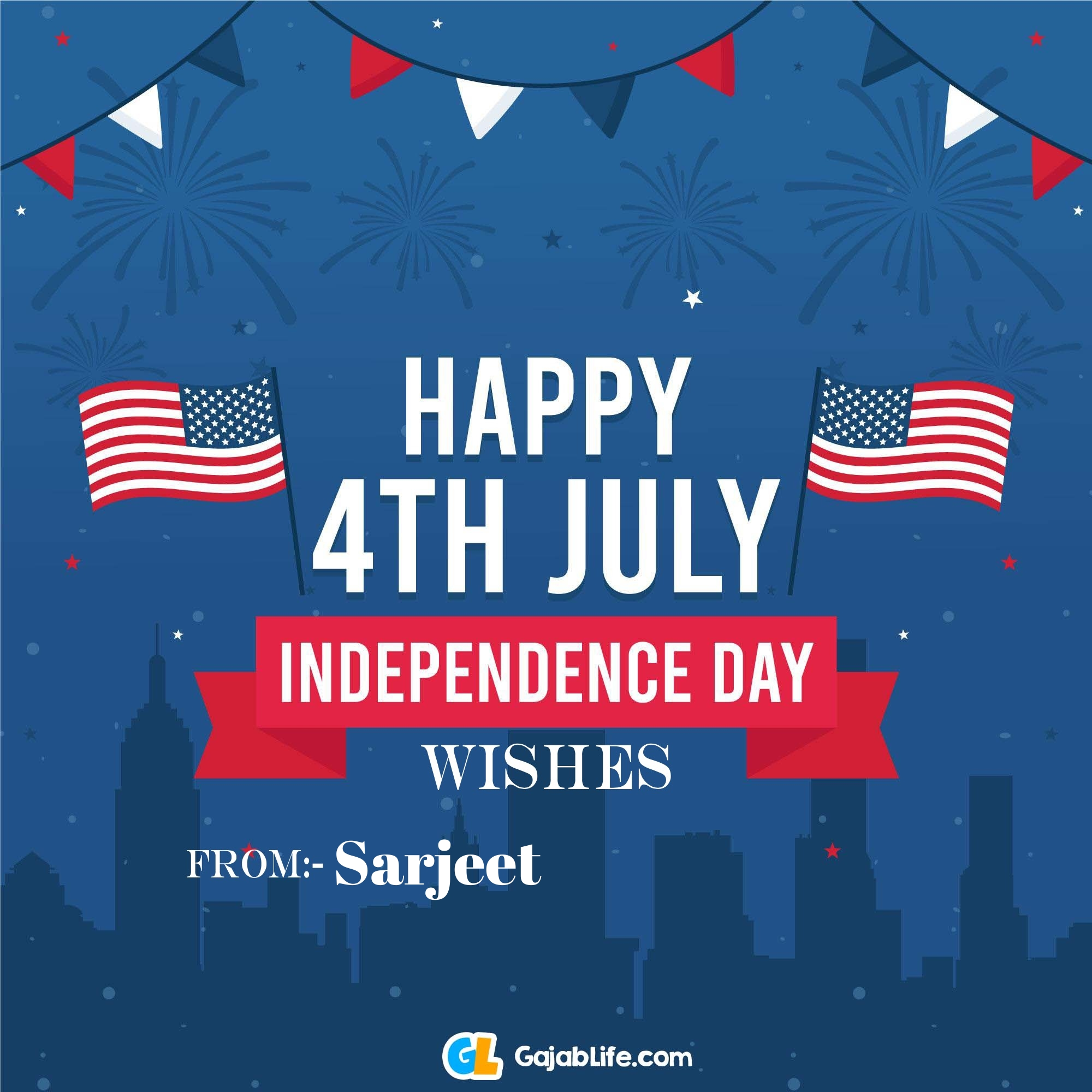 Sarjeet happy independence day united states of america images