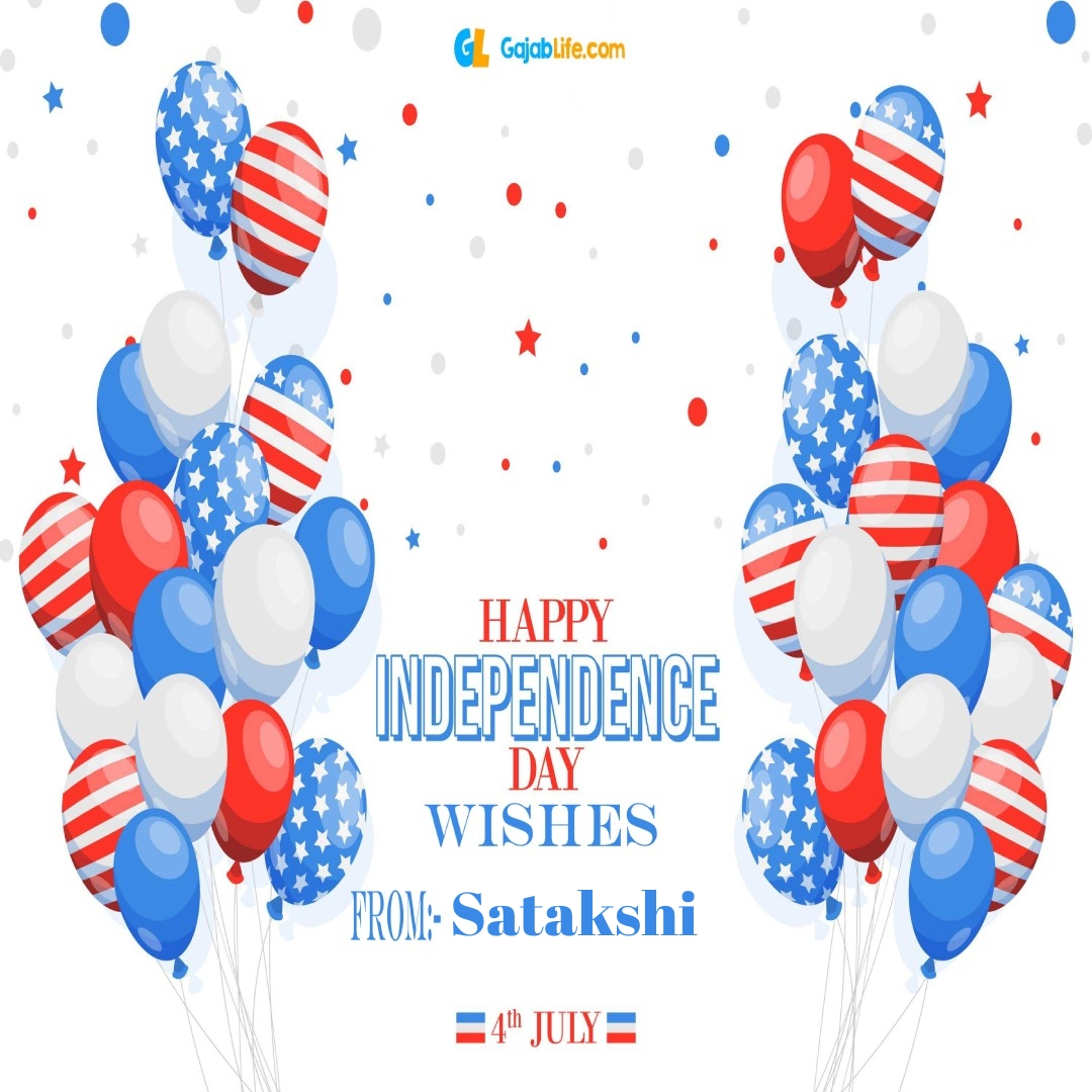 Satakshi 4th july america's independence day