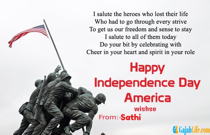 Sathi american independence day  quotes