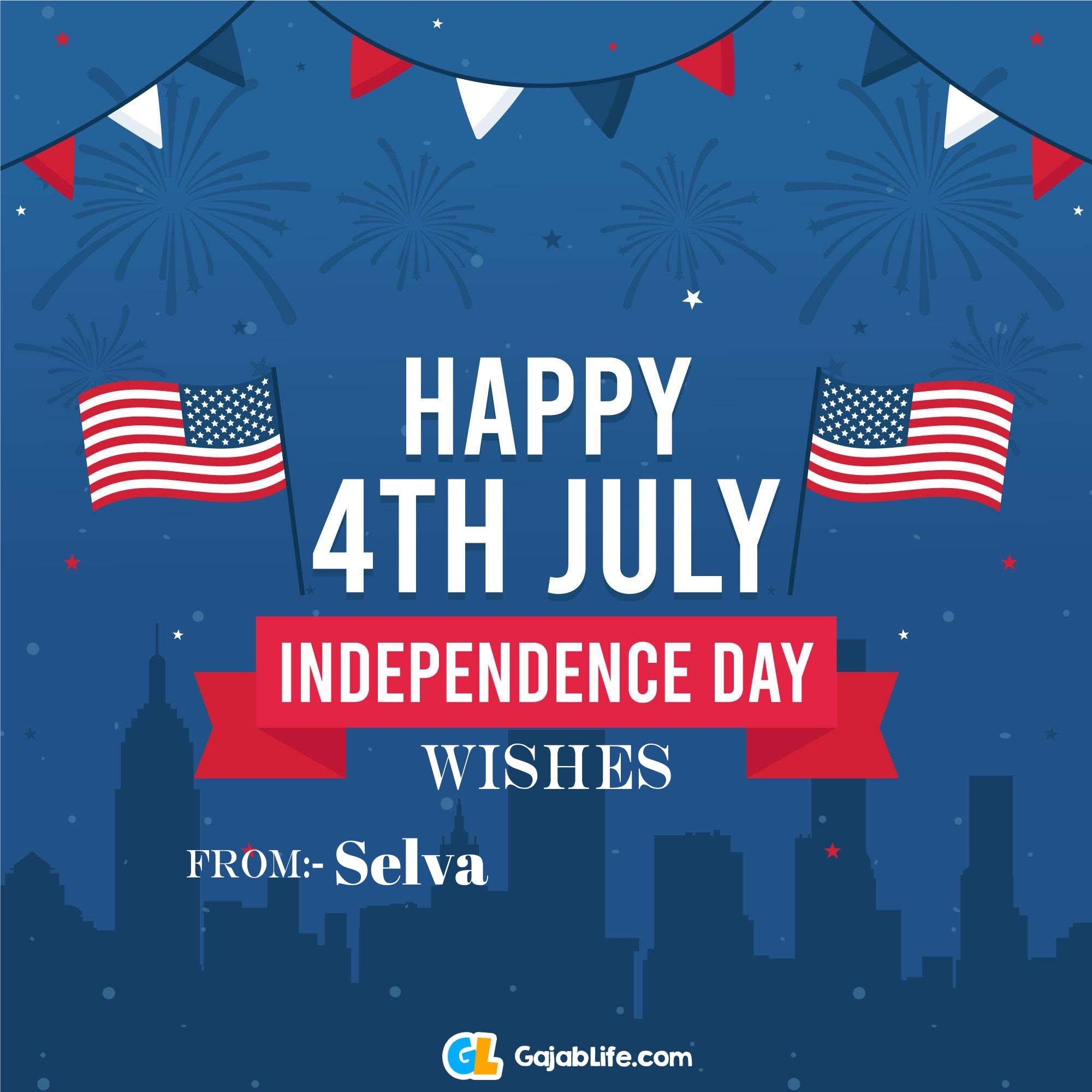 Selva happy independence day united states of america images