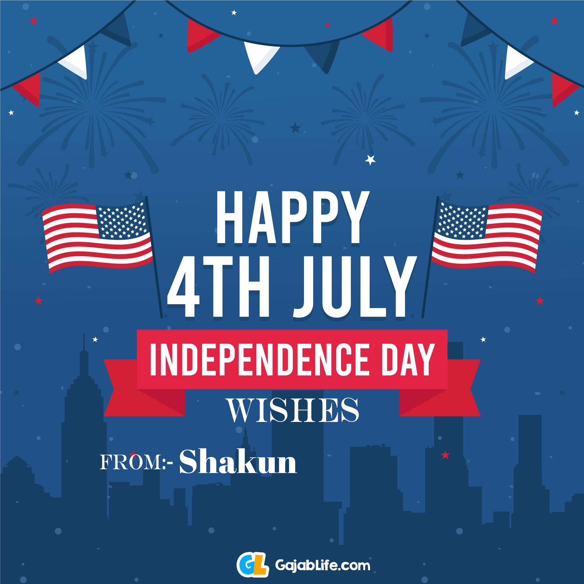 Shakun happy independence day united states of america images