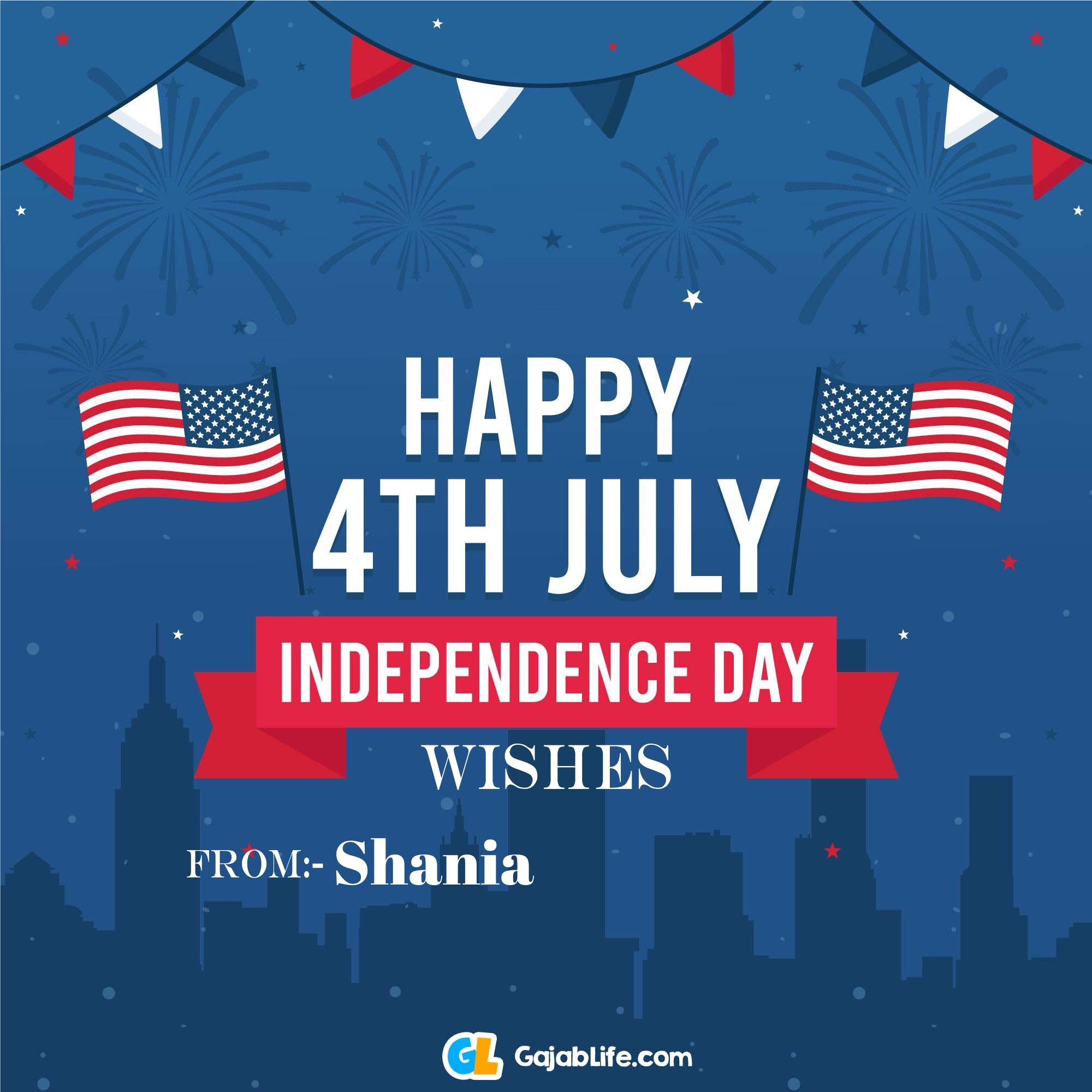 Shania happy independence day united states of america images