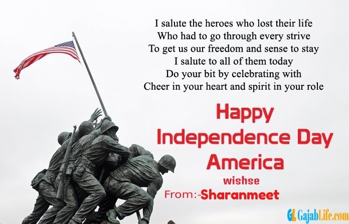 Sharanmeet american independence day  quotes