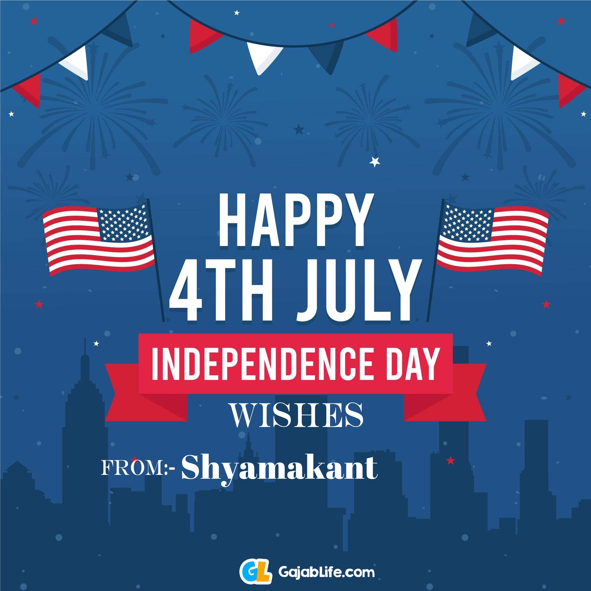 Shyamakant happy independence day united states of america images