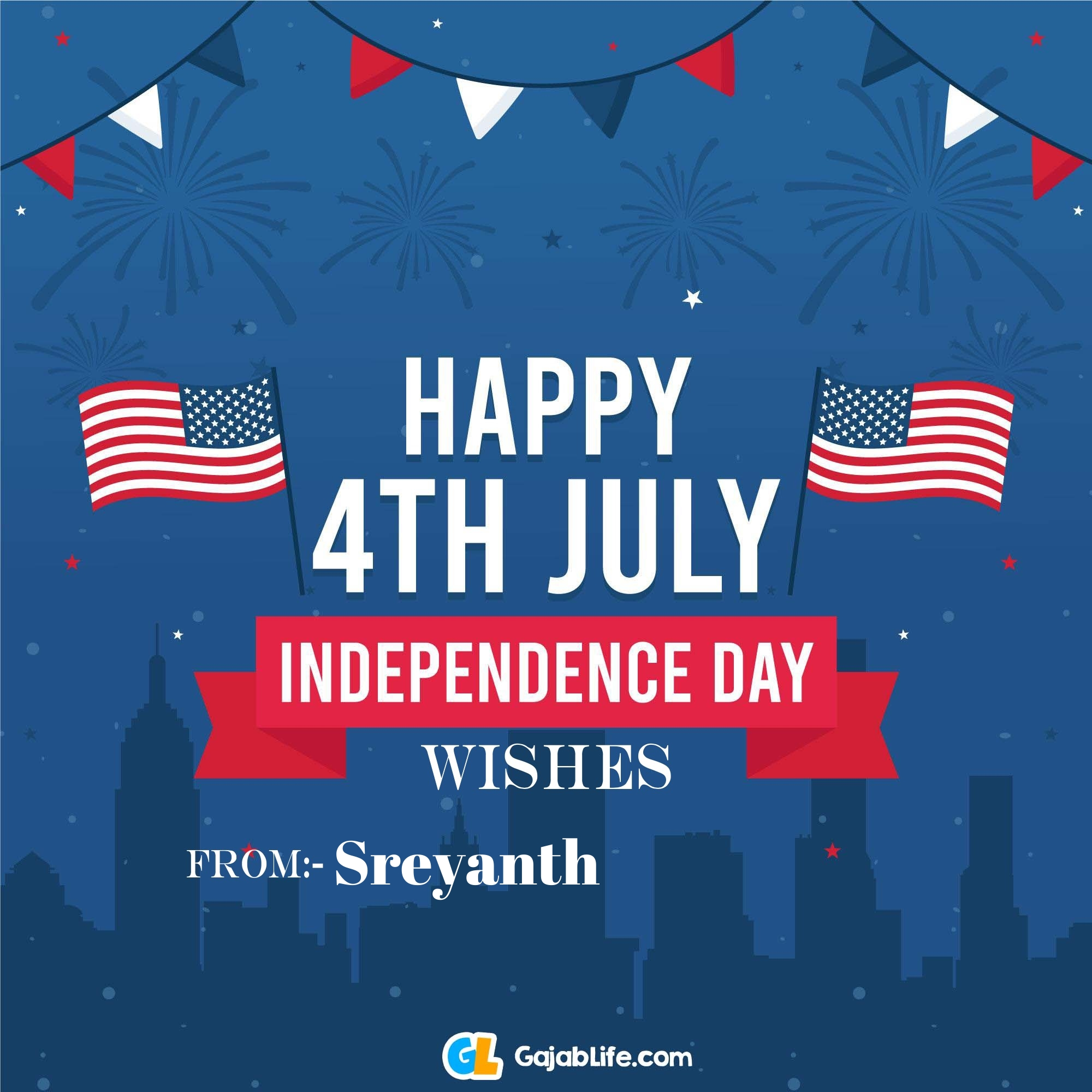 Sreyanth happy independence day united states of america images
