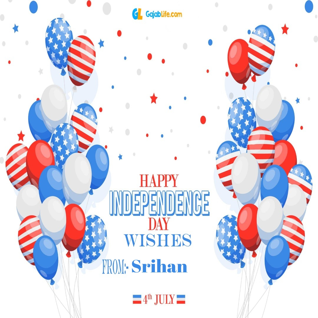 Srihan 4th july america's independence day