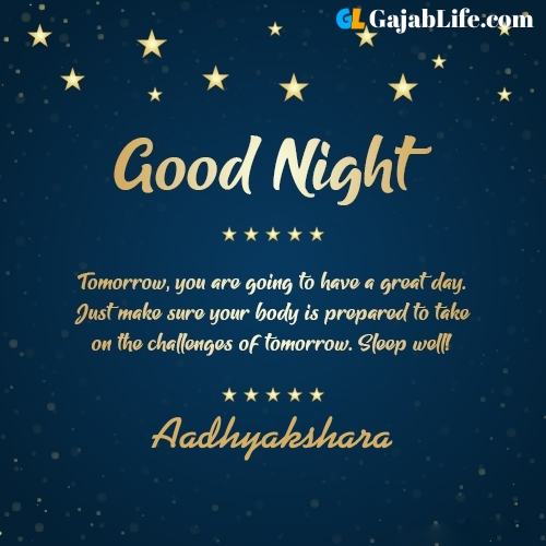 Sweet good night aadhyakshara wishes images quotes