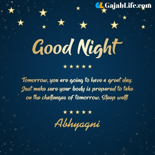Sweet good night abhyagni wishes images quotes