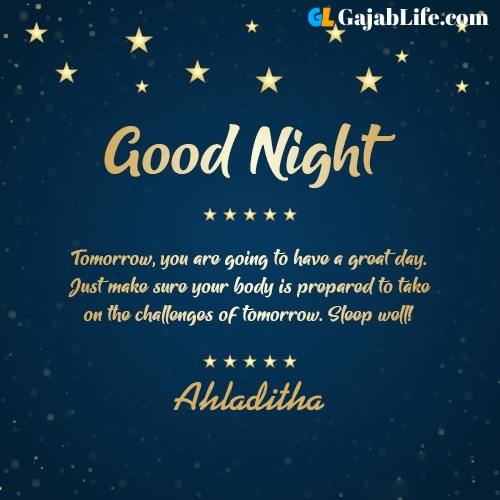 Sweet good night ahladitha wishes images quotes