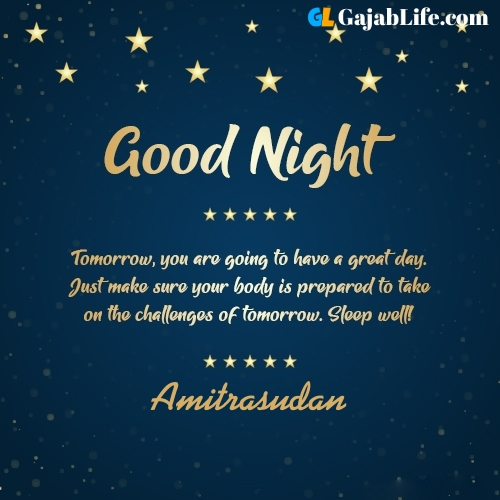 Sweet good night amitrasudan wishes images quotes