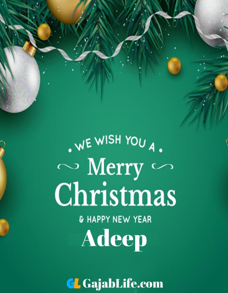 Wish happy christmas images with name wish happy new year image with name adeep